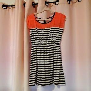 Cute black and white striped dress.